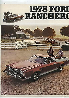Old 1978 Ford Full Color Brochure Ranchero