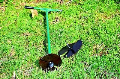 Post Hole Digger Hand Tool Fence Garden Manual Auger Drill 2 Nozzles 150/200 mm
