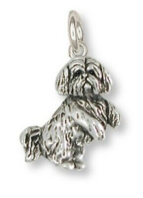 Lhasa Apso Charm Handmade Sterling Silver Dog Jewelry LS20-C