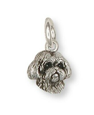Lhasa Apso Charm Handmade Sterling Silver Dog Jewelry LSLSZ9H-C