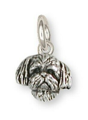 Lhasa Apso Charm Handmade Sterling Silver Dog Jewelry LSZ21H-C