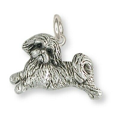 Lhasa Apso Charm Handmade Sterling Silver Dog Jewelry LSZ22-C