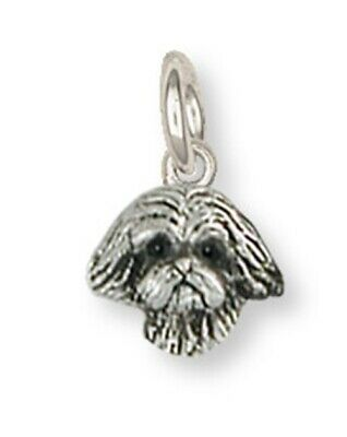 Lhasa Apso Charm Handmade Sterling Silver Dog Jewelry LSZ22H-C