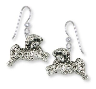 Lhasa Apso Earrings Handmade Sterling Silver Dog Jewelry LS22-E