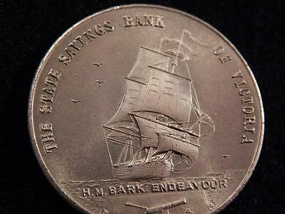 Medallion Captain James Cook Bicentenary 1770 -1970 -State Savings Bank Of Vic