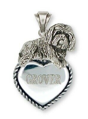 Lhasa Apso Personalized Pendant Handmade Sterling Silver Dog Jewelry LSZ17-TP
