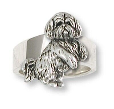 Lhasa Apso Ring Handmade Sterling Silver Dog Jewelry LSZ20-R