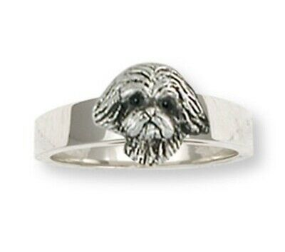 Lhasa Apso Ring Handmade Sterling Silver Dog Jewelry LSZ22H-R