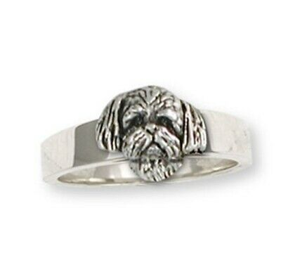Lhasa Apso Ring Handmade Sterling Silver Dog Jewelry LSZ21H-R