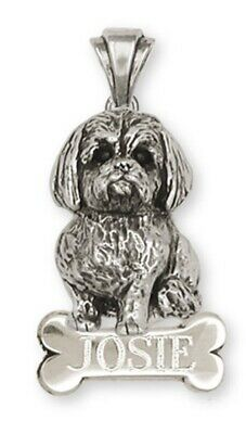 Lhasa Apso Personalized Pendant Handmade Sterling Silver Dog Jewelry LSZ5-NP