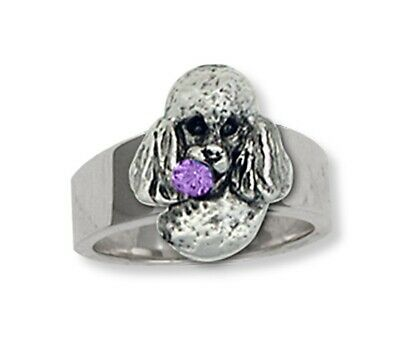 Poodle Ring Handmade Sterling Silver Dog Jewelry PD33-R