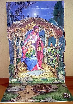 Vintage Hallmark Advent Calendar Legend of the Robin with story passage each day