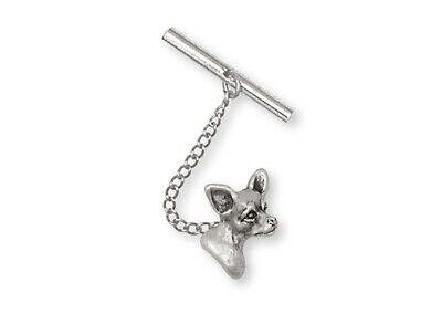 Chihuahua Tie Tack Jewelry Sterling Silver Chihuahua Charms And Jewelry CHW5-TT