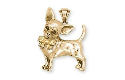Chihuahua Pendant Jewelry 14k Yellow Gold Vermeil Chihuahua Charms And Jewelry C