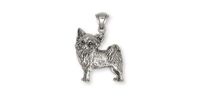Long Hair Chihuahua Pendant Jewelry Sterling Silver Long Hair Chihuahua Charms A