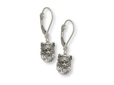 Long Hair Chihuahua Earrings Jewelry Sterling Silver Chihuahua Jewelry CH56-LB