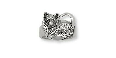 Long Hair Chihuahua Ring Jewelry Sterling Silver Chihuahua Charms Jewelry CH58-R