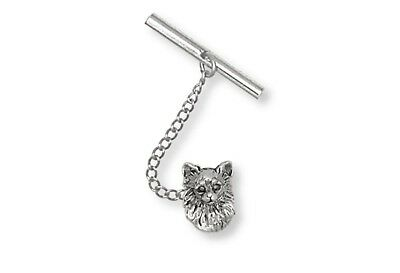 Long Hair Chihuahua Tie Tack Jewelry Sterling Silver Chihuahua Jewelry CH56-TT