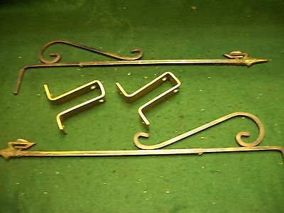 Vintage-Antique-Old- Cast Iron Swing A Way Drapery -Curtain Rods-17-29