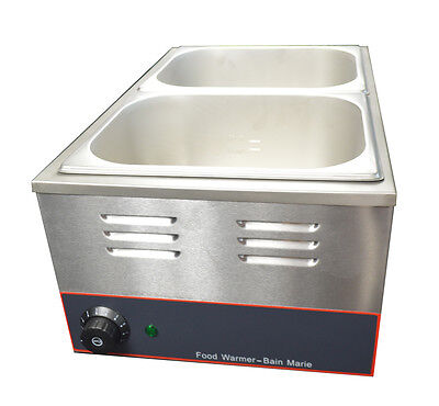 2 1/2pans Kettle Professional Bain-Marie Buffet Food Warmer Server with covers