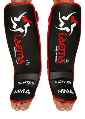 New Advance Gel Shin Instep Foot Pads MMA UFC Leg Kick Guards Muay Thai Boxing