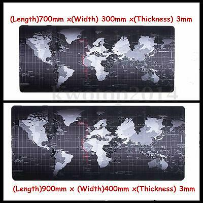 900x400x3mm/700x400x3mm Large Size World Map Speed Game Mouse Pad Mat Laptop