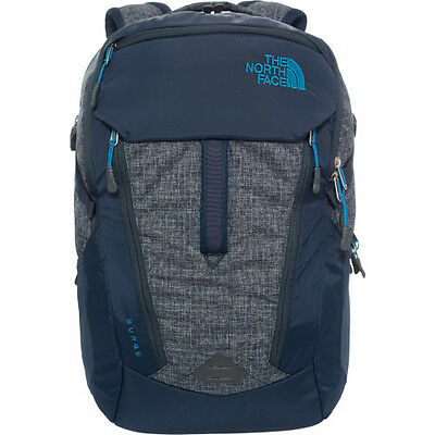 North Face Surge Mens Rucksack Laptop Backpack - Urban Navy Banff Blue One Size