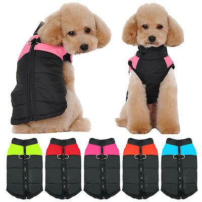 Winter Dog Clothes for Small Dog Waterproof Dog Jacket Chihuahua Coats Vest Pink