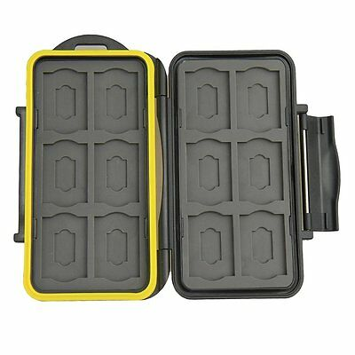 Waterproof Shockproof Hard Storage Memory Card Case For 12 SD +12 Micro SD C JJC