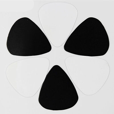 【black White】10 50 100 PCS Durable 0.46mm Guitar Picks Plectrums