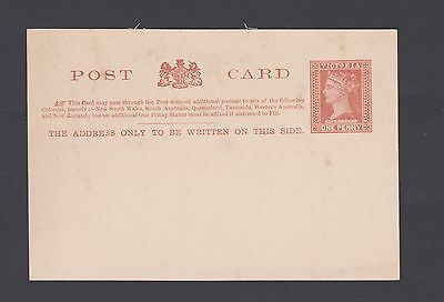 "Victoria 1890-94 1D Brown Qv ""stamp Duty"" Postcard Unused  (Ca2)"
