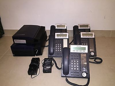 Panasonic TDA30 Hybrid-IP PBX PLUS KX-TVM50 Voicemail PLUS 5X KX-DT333AL Phones