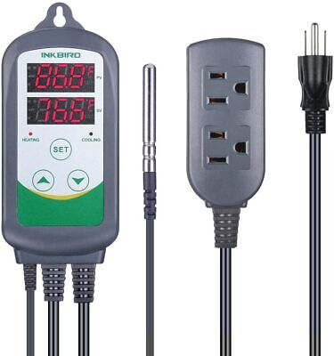 Inkbird ITC-308 Pre-Wired Digital 110V Temperature Controller sensor C/F Display