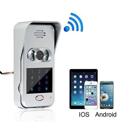 Wireless Wifi/IP Door phone Video Camera Intercom Doorbell IR Night Vision New