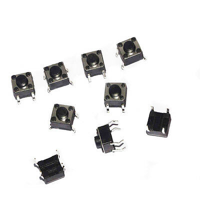 100x Tactile Push Button Switch Tact micro switch 6 * 6 * 5 mm 4-pin DIP ON/OFF