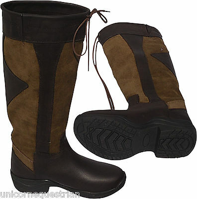 Long Riding Country Boots All Sizes Ladies Men's  Knee High Boots