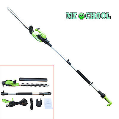 2-in-1 Power Pruner 550w Electric Telescopic Long Reach Cutter Hedge Trimmer