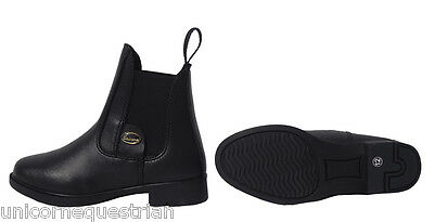 Unicorn Black Jodhpur Boots Horse Riding Shoes Paddock Ladies Ankle Pull Ons