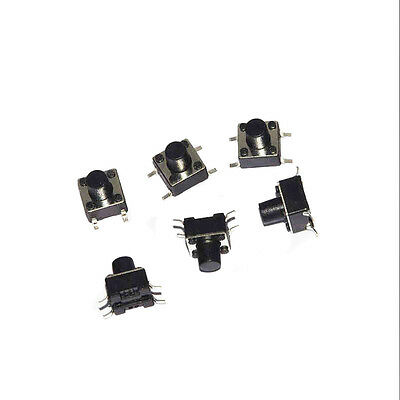 100x Tactile Push Button Switch Tact micro SMD switch 6 * 6 * 7 mm 4 feet ON/OFF
