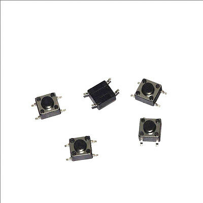 100x Tactile Push Button Switch Tact micro SMD switch 6*6*4.3 mm 4 feet ON/OFF