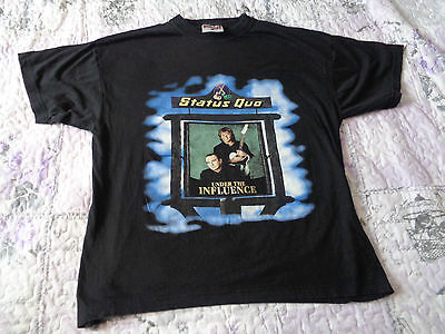 STATUS QUO Tour shirt 1999 - Under the influence UK tour - Dates on back