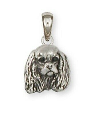 Cavalier King Charles Spaniel Pendant Jewelry Handmade Sterling Silver KC20-[