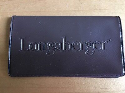 Longaberger Brown Vinyl Business Card / Credit Card Holder