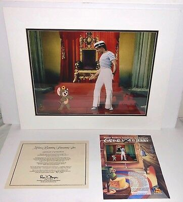 Tom and Jerry Hanna Barbera Gene Kelly Signed Cel Anchors Aweigh Artist Proof 1