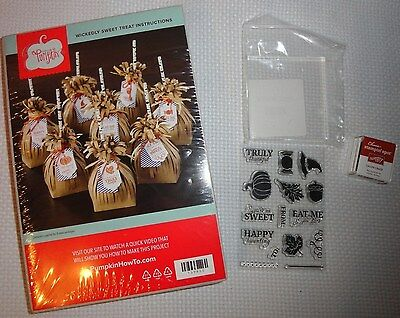 Paper Pumpkin Stamp Set by Stampin Up New Fall Acorn Leaf Candy Treat Bag Kit
