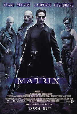 """THE MATRIX Movie Poster [Licensed-New-USA] 27x40"""" Theater Size (Keanu Reeves)"""