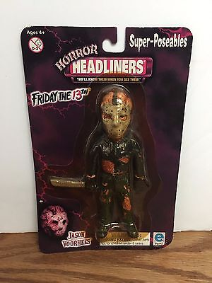 JASON VOORHEES Friday the 13th HORROR HEADLINERS Action Figure NOS