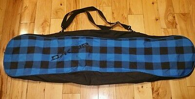 DAKINE SNOWBOARD BAG blue black checkered Excellent Free Shipping 56 inches Long