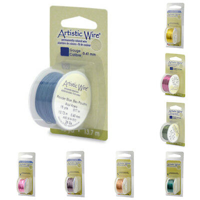 Artistic Wire DISPENSER Packs 18-34 gauge 21 colors Round  Craft Wire NEW colors
