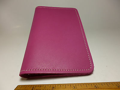 North Star Pink Top-Stub Soft Genuine Leather Checkbook Cover Made In USA-#131